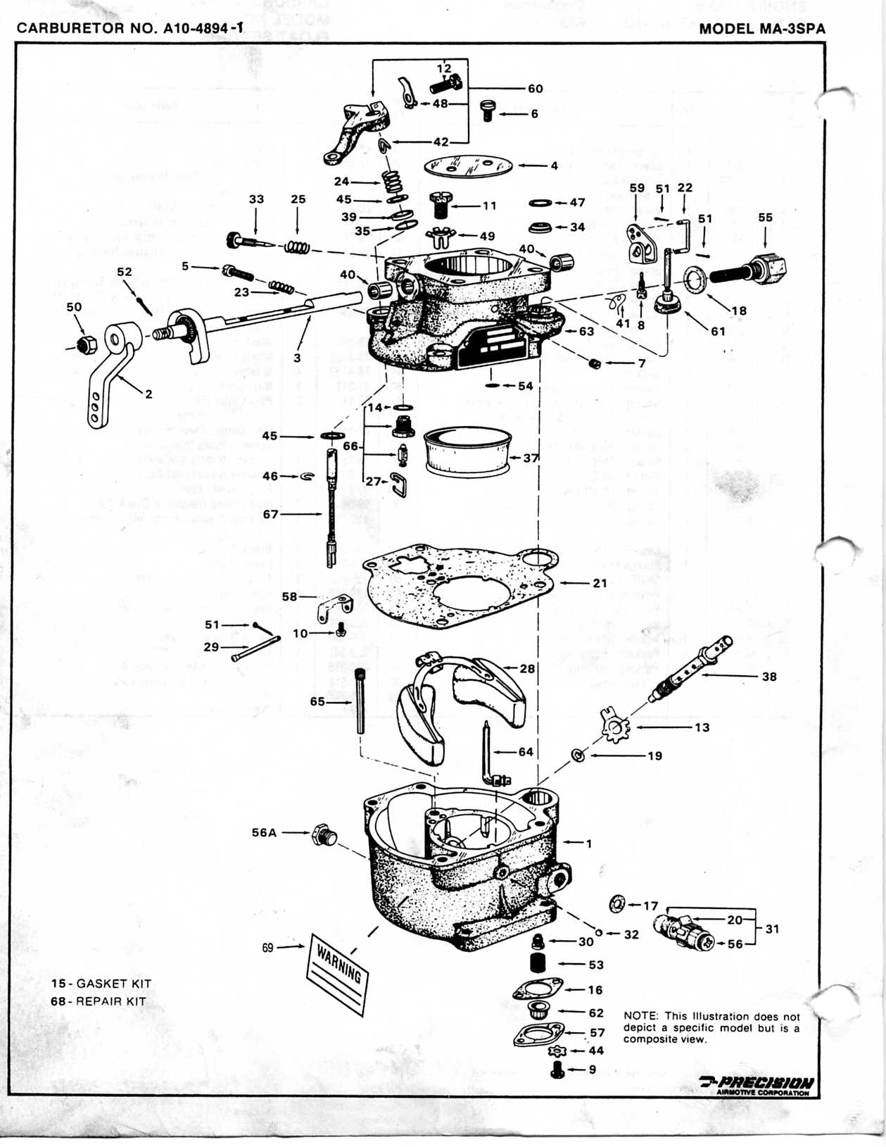 marvel schebler carburetor diagram